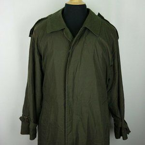 Burberry Green Belted Overcoat Trench Coat